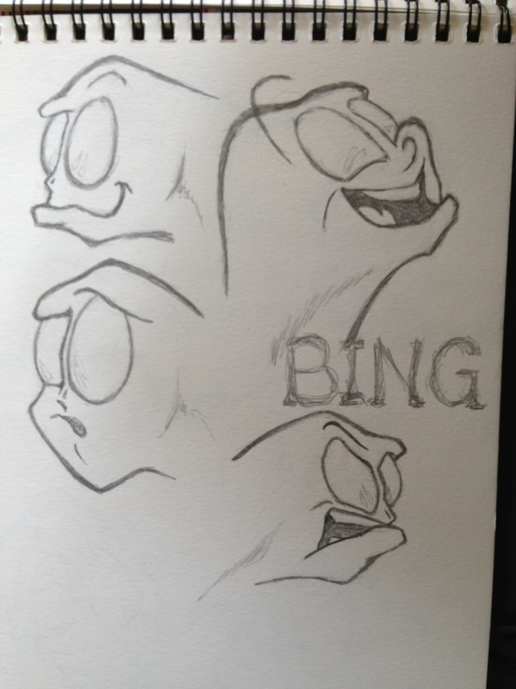 Character Development - Faces: Bing